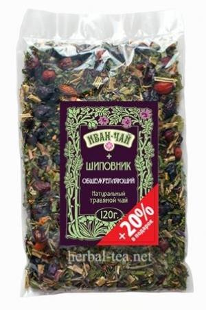 Иван-чай + шиповник (общеукрепляющий) +20% в подарок